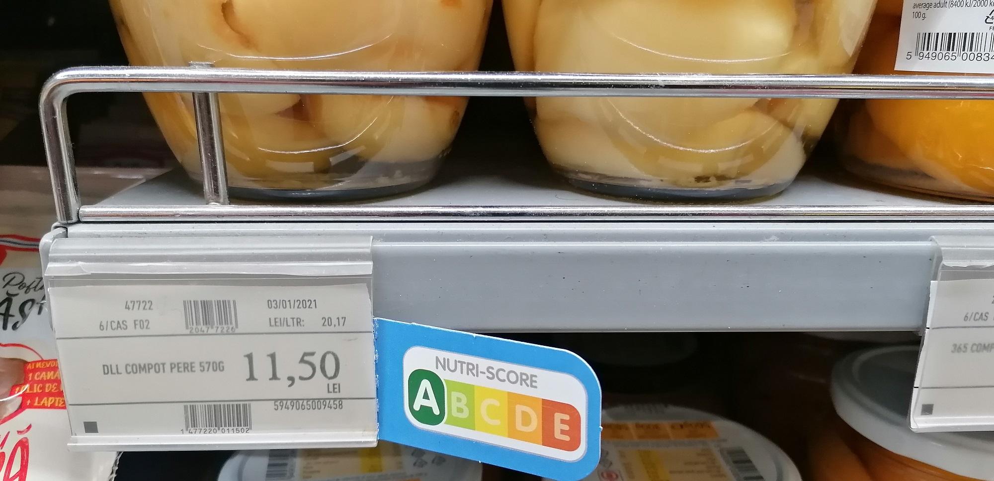 Premieră în România: un hypermarket aplică sistemul de etichetare francez NUTRI-SCORE; Italia contestă acest sistem și promovează un sistem propriu, NUTRINFORM