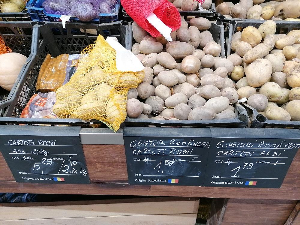 Fructele și legumele românești domină rafturile unui market din București